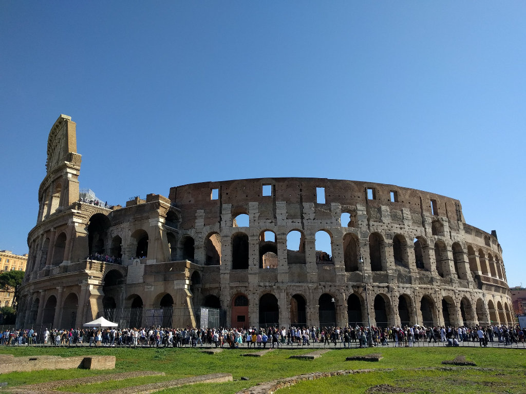 The Colosseum, book to avoid the queues.
