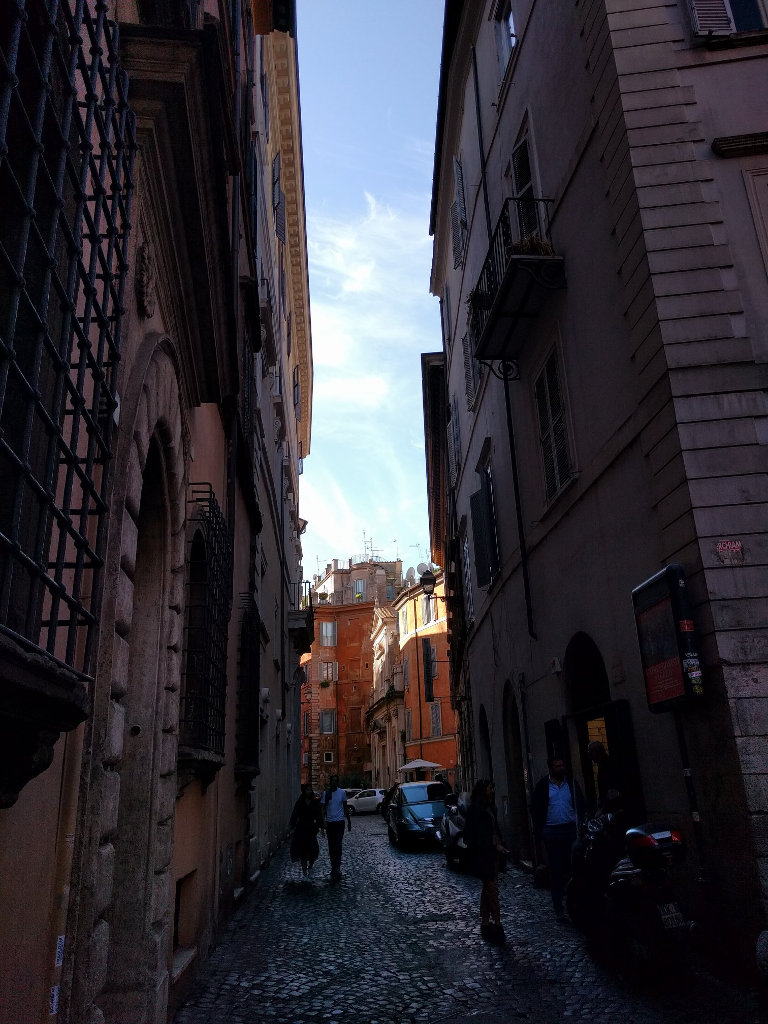 The side streets in Rome, especially around Trastevere are beautiful