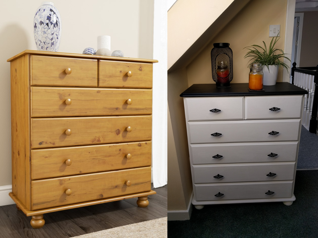 Upscaled Pine 2+4 Drawers